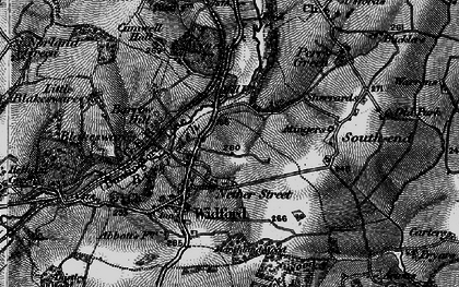 Old map of Wynches in 1896