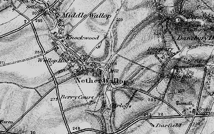 Old map of Nether Wallop in 1895