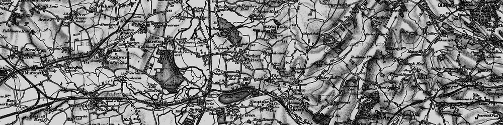 Old map of Windmill Hill in 1899