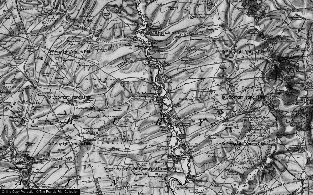 Old Map of Netheravon, 1898 in 1898