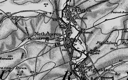 Old map of Netheravon in 1898