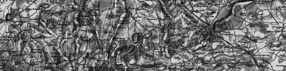 Old map of Witch Lodge in 1898