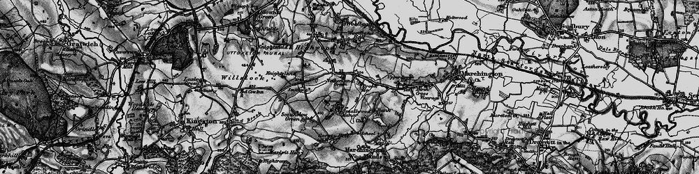 Old map of Woodford in 1897