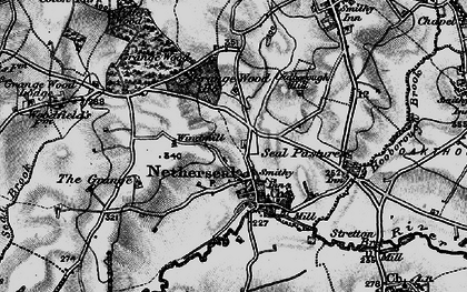 Old map of Acresford in 1898