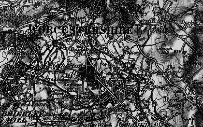 Old map of Netherton in 1899