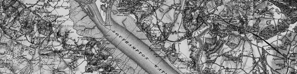 Old map of Netley in 1895