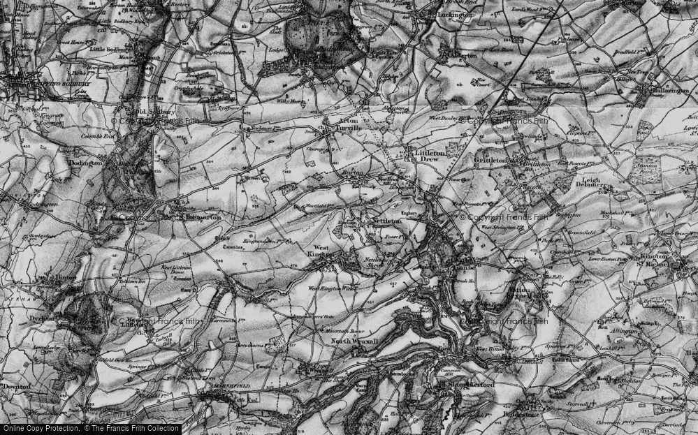 Old Map of Nettleton, 1898 in 1898