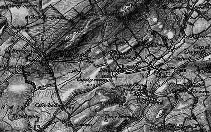 Old map of Afon Camnant in 1898