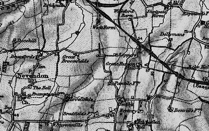 Old map of Nevendon in 1896