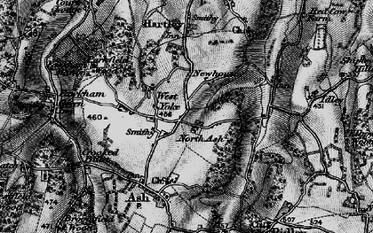 Old map of New Ash Green in 1895