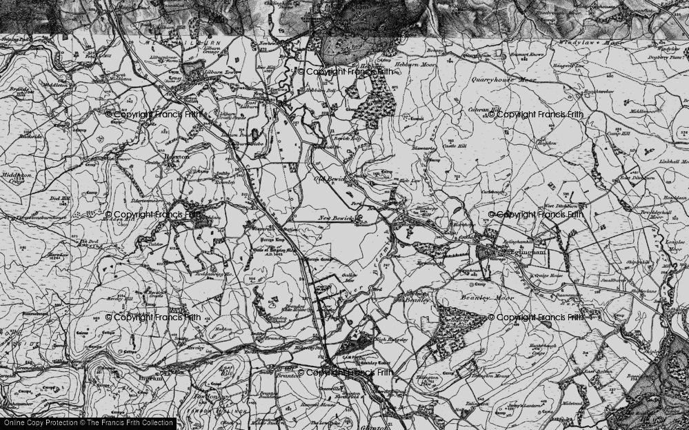 Old Map of Historic Map covering Tick Law in 1897