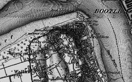 Old map of New Brighton in 1896