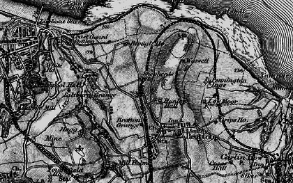 Old map of New Brotton in 1898