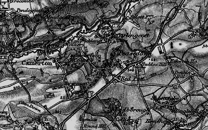 Old map of Woodborough Ho in 1898