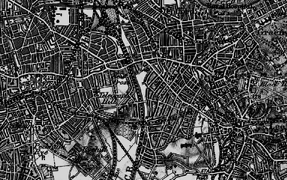 Old map of New Cross in 1896