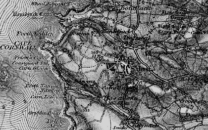 Old map of New Downs in 1895