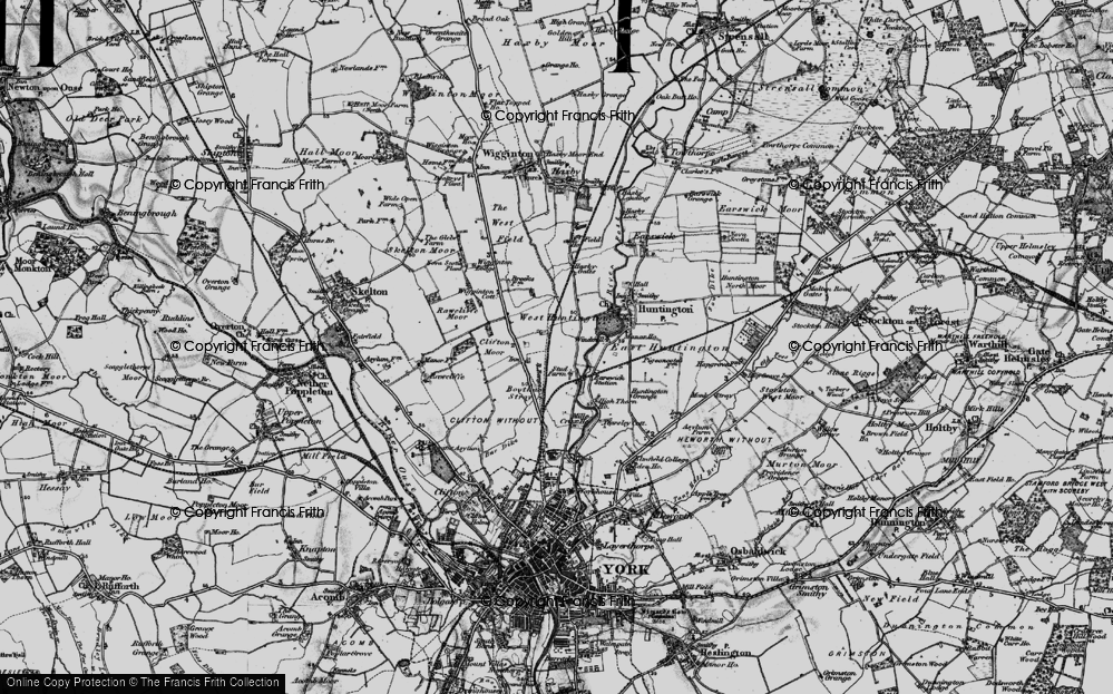Old Map of New Earswick, 1898 in 1898