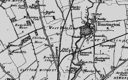 Old map of New Earswick in 1898