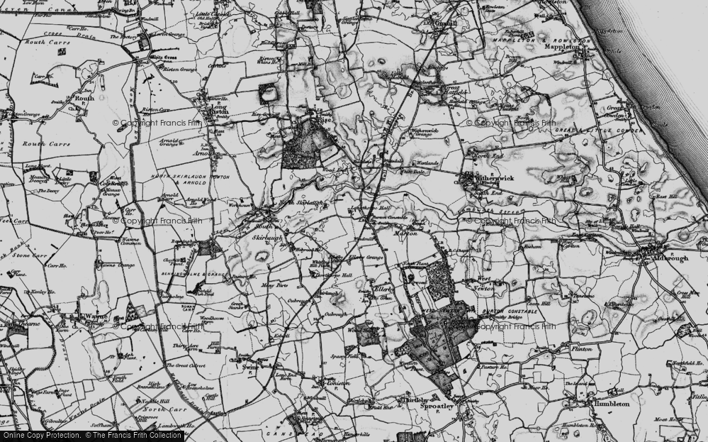 Old Map of Historic Map covering Langthorpe Hall in 1897