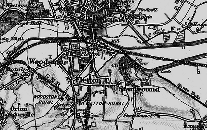 Old map of New Fletton in 1898