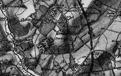 Old map of New Greens in 1896