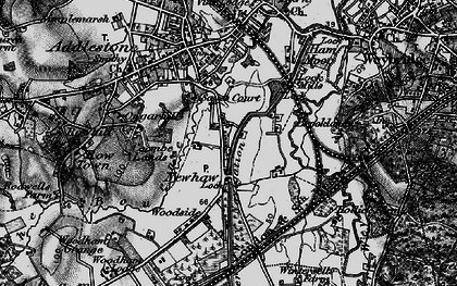 Old map of New Haw in 1896