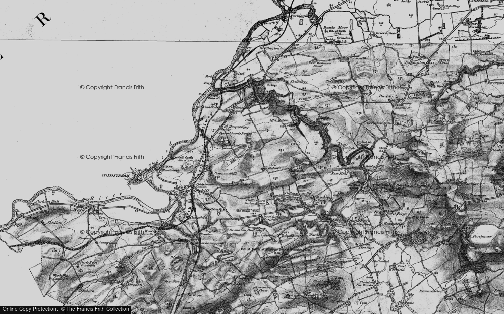 Old Map of Historic Map covering Tiptoe in 1897