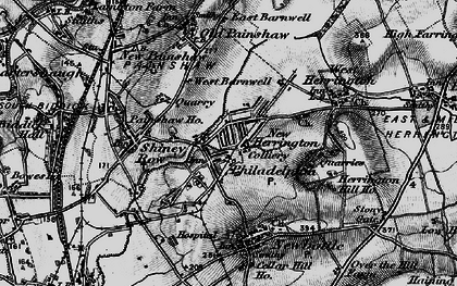 Old map of New Herrington in 1898