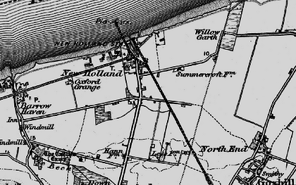 Old map of New Holland in 1895