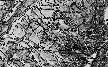 Old map of Afon Gilwydeth in 1898
