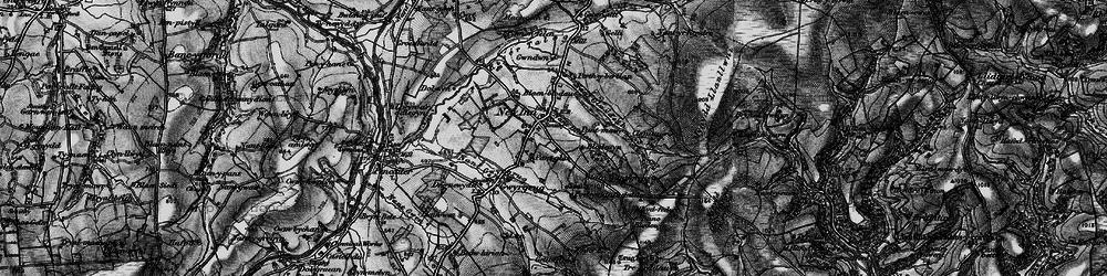 Old map of Afon Gilwydeth in 1898