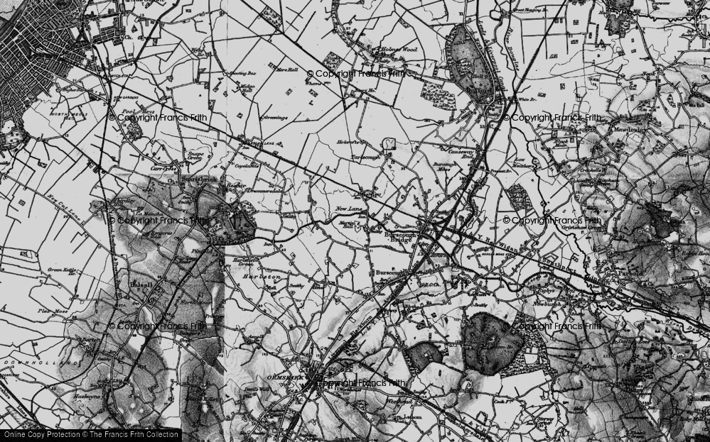Old Map of Historic Map covering Leeds & Liverpool Canal in 1896