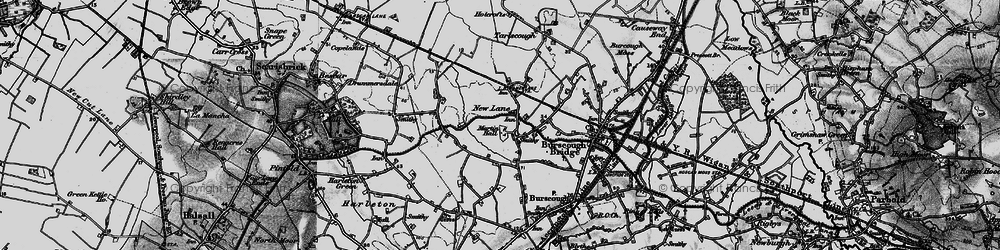 Old map of Leeds & Liverpool Canal in 1896