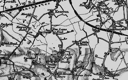 Old map of New Lane End in 1896