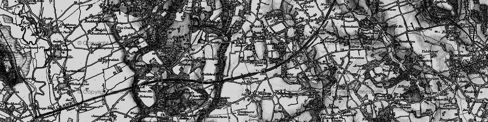 Old map of New Milton in 1895