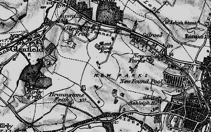 Old map of New Parks in 1899