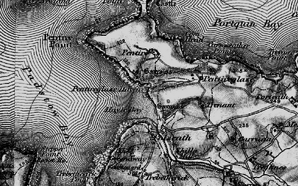 Old map of New Polzeath in 1895