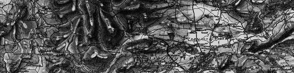 Old map of Whinyard Rocks in 1899