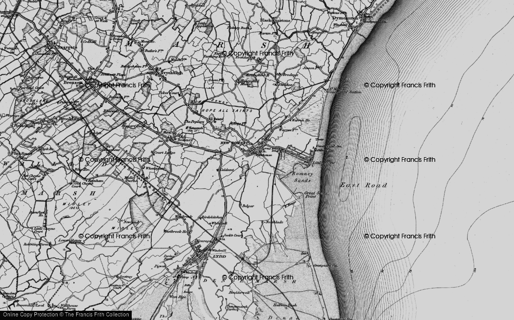 Old Map of New Romney, 1895 in 1895