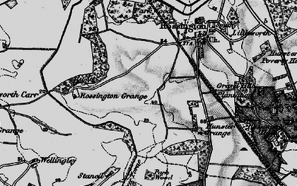 Old map of New Rossington in 1895
