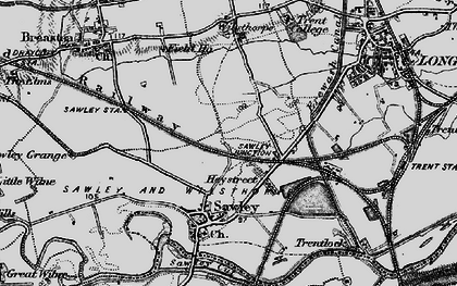 Old map of New Sawley in 1895