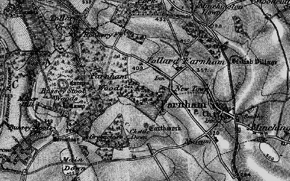 Old map of Larmer Tree Gdns in 1895