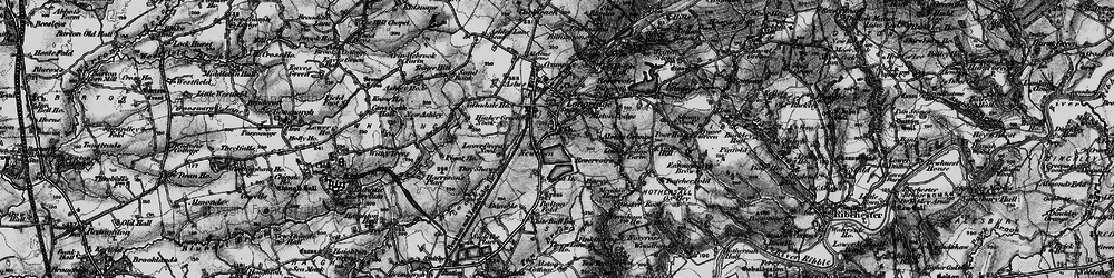 Old map of Alston Grange in 1896