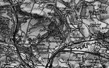 Old map of New Whittington in 1896