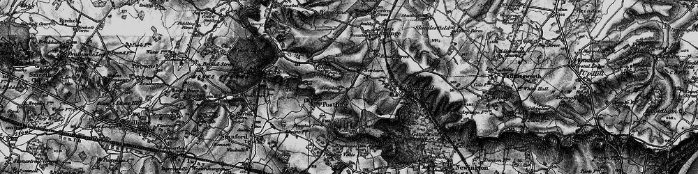 Old map of Tolsford Hill in 1895