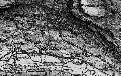 Old map of Newbiggin in 1897
