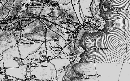 Old map of Newbiggin-by-the-Sea in 1897