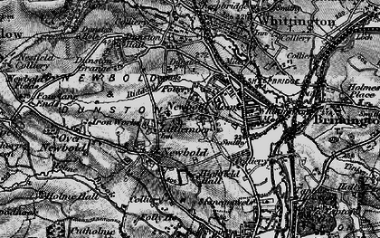 Old map of Newbold in 1896
