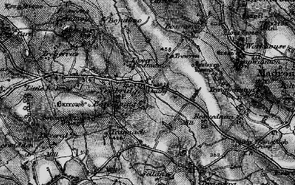 Old map of Newbridge in 1895