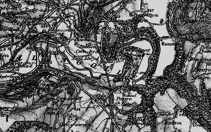 Old map of Newbridge in 1897